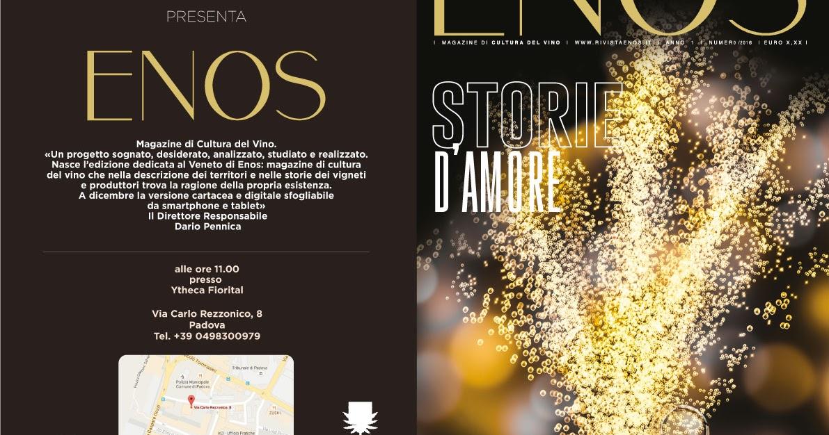 Enos: il nuovo magazine del veneto verra' presentato a padova il 1 dicembre