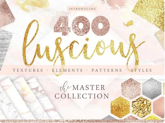 CreativeMarket 400 Gold & Marble Textures & More 2268674
