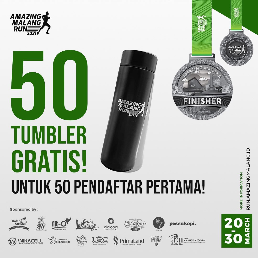 Tumbler 🥤 Amazing Malang Run • 2021