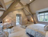 Cozy attic bedroom idea