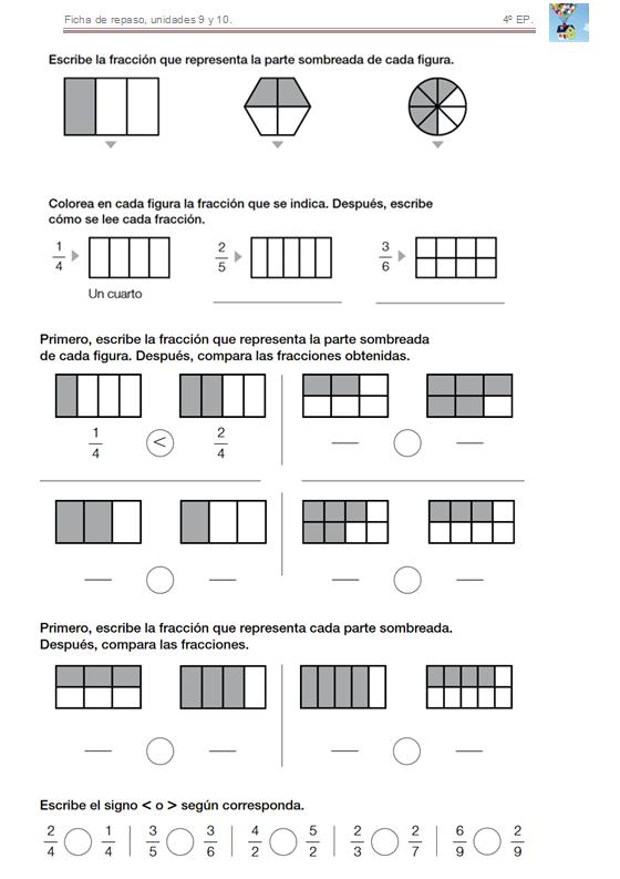 Bienvenidos a cuarto de primaria! : Repasamos, temas 9 y 10.