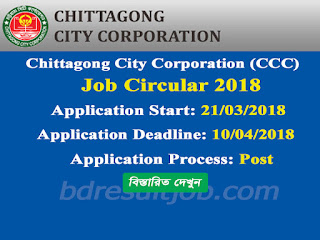 Chittagong City Corporation Job Circular 2018