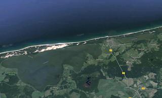 Jeziora Łebsko iSarbsko - przybrzeżne (Google Maps)