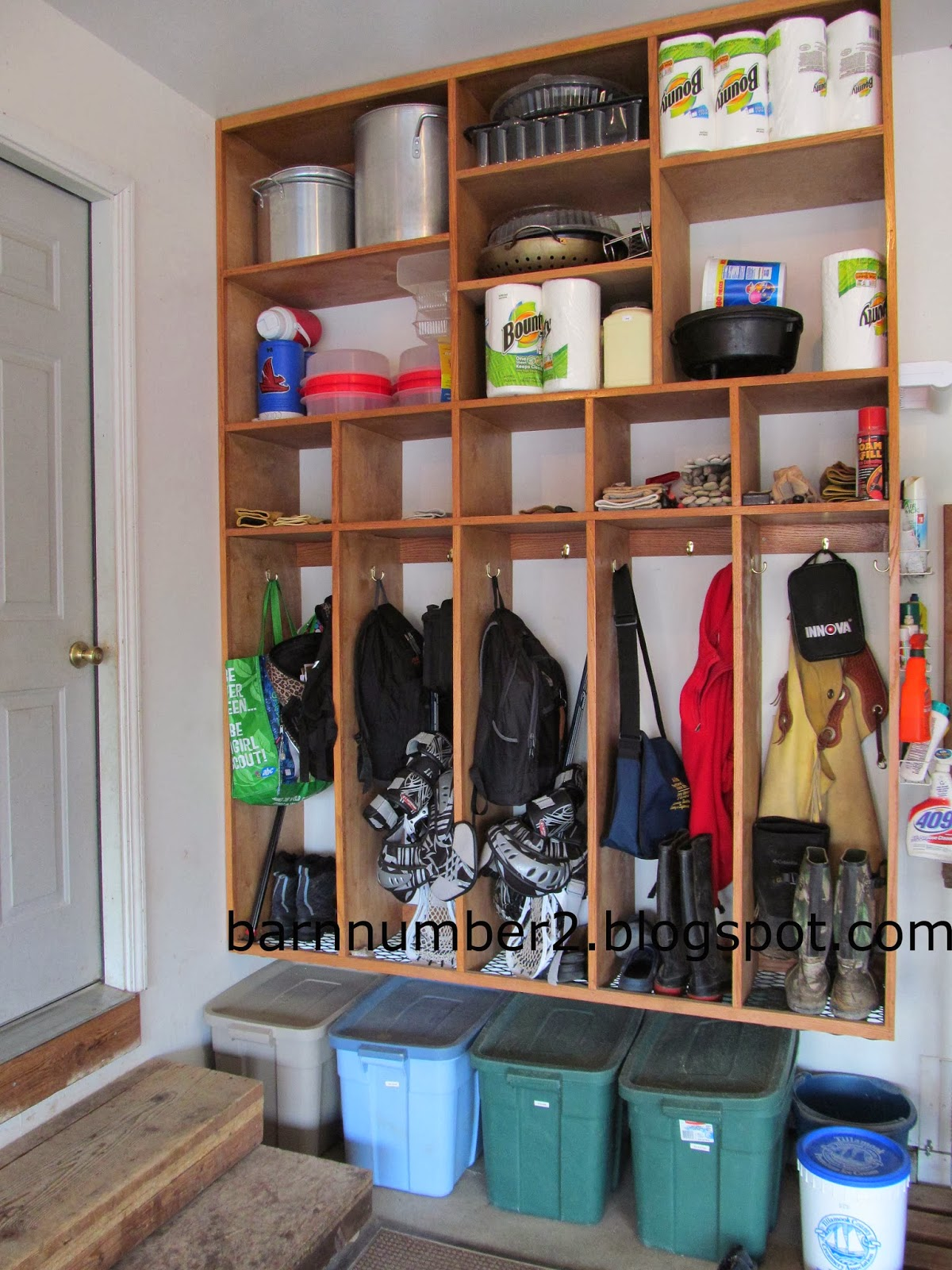 Barnnumber2 built by bryce mudroom alternative for Garage mudroom