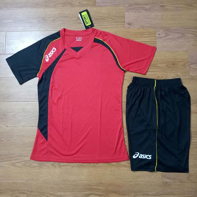Áo Bóng Chuyền ASICS ALB - NA01 Màu Đỏ