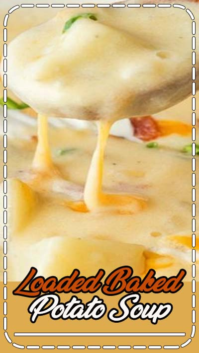 This creamy Loaded Baked Potato Soup recipe is ready in less than 30 minutes!