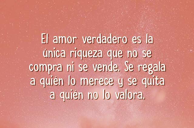 El verdadero amor es la única cosa que no se compra ni se vende