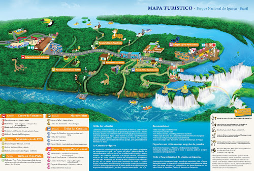 Mapa do Parque das Cataratas do Iguaçú