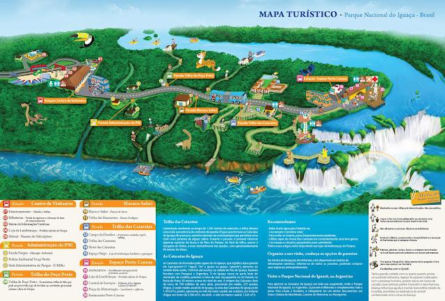 Mapa do Parque das Cataratas do Iguaçú