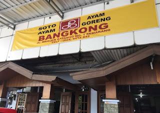 Temat makan Soto Bangkong