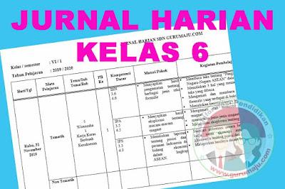 Jurnal Harian Kelas 6 Semester 1 Kurikulum 2013 Revisi 2018