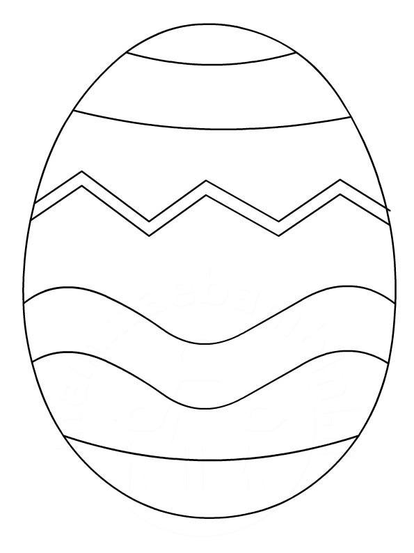 Stampa E Colora Uovo Di Pasqua Da Stampare E Colorare