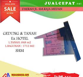 dijual hotel 4 lantai 37 kamar daerah jl.sm.raja medan <del>Rp 35.000.000.000,-</del> <price>Rp 25.000.000.000,-</price> <code>MH-HOT4</code>