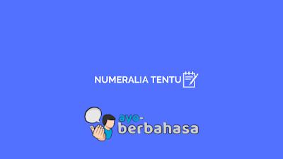 Contoh kata bilangan tentu