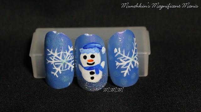 Practice snowman nail design