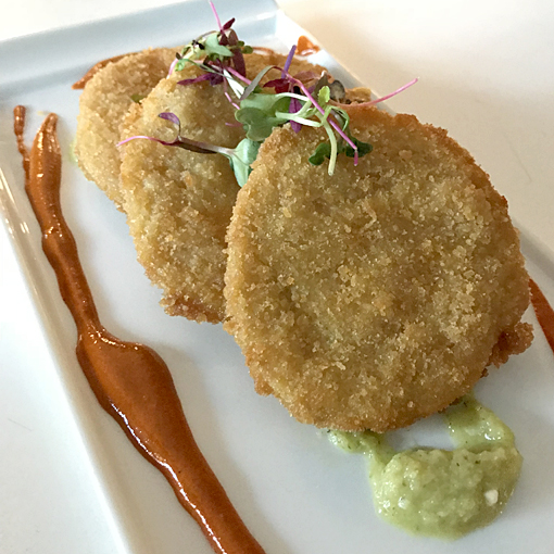 Fried Green Tomatoes | 5Church Atlanta | Photo: Travis S. Taylor