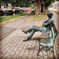 Dublin Photos: Patrick Kavanagh statue on the Grand Canal