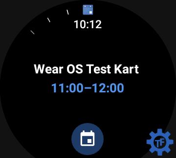 Widget kalendarza w Wear OS
