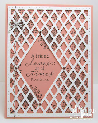Our Daily Bread Designs Stamp Set: To My Friend, Custom Dies: Lattice Background