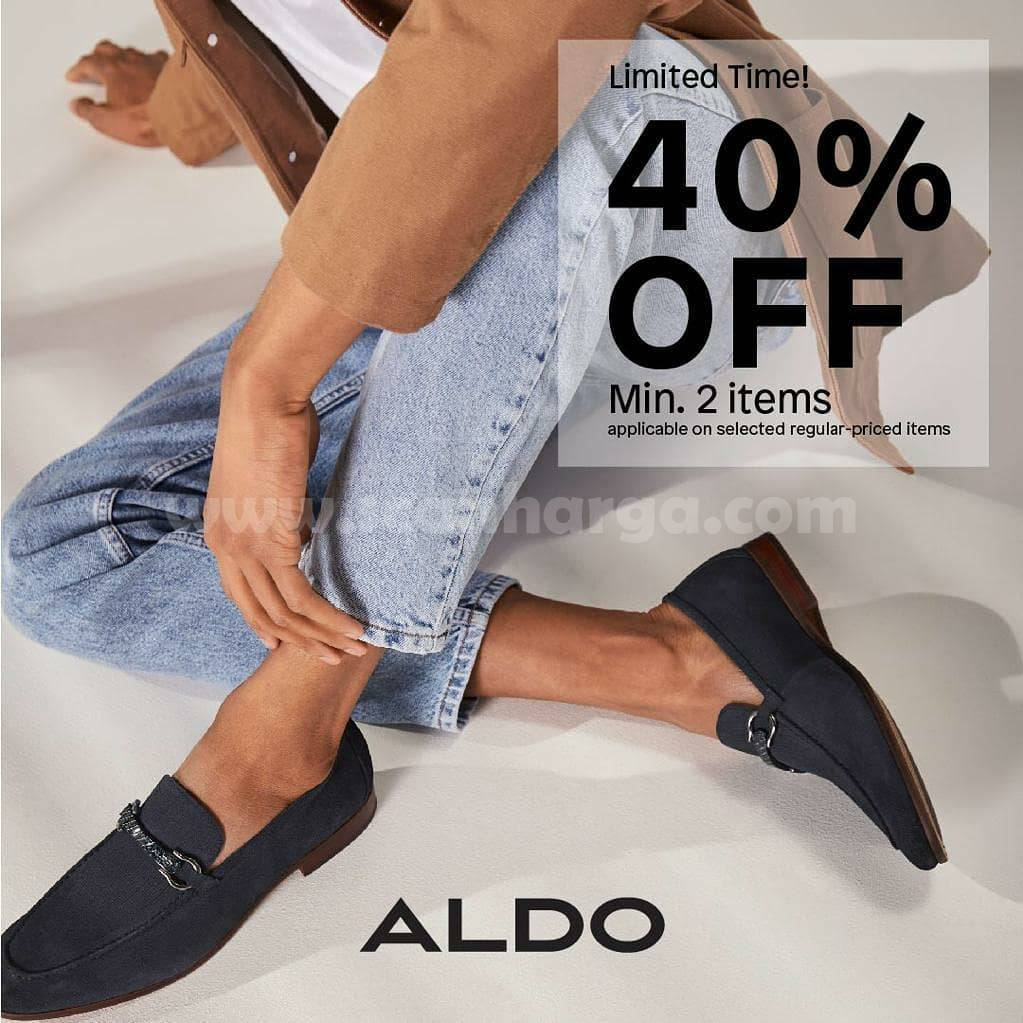 ALDO SHOES Promo Limited Time! Get Disc 40% Off For Min 2 Items