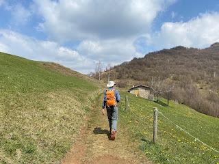 Above Monte di Nese, walking toward Monte Filaressa.