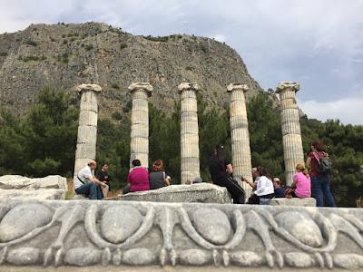 Priene antik kenti athena tapınağı
