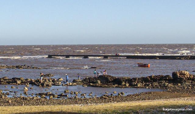 Orla do Rio da Prata em Montevidéu, Uruguai