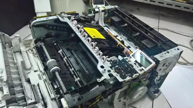 Mengatasi Printer Laserjet Hp M402 Cetakan tidak Rata [Tipis Sebagian]