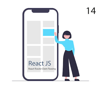 #14 Tutorial React Router Passing Data Props Parameter