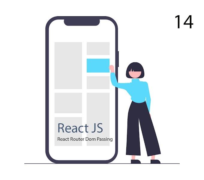 #14 Tutorial React Router Passing Data Props Parameter