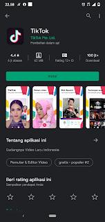 TikTok Play store