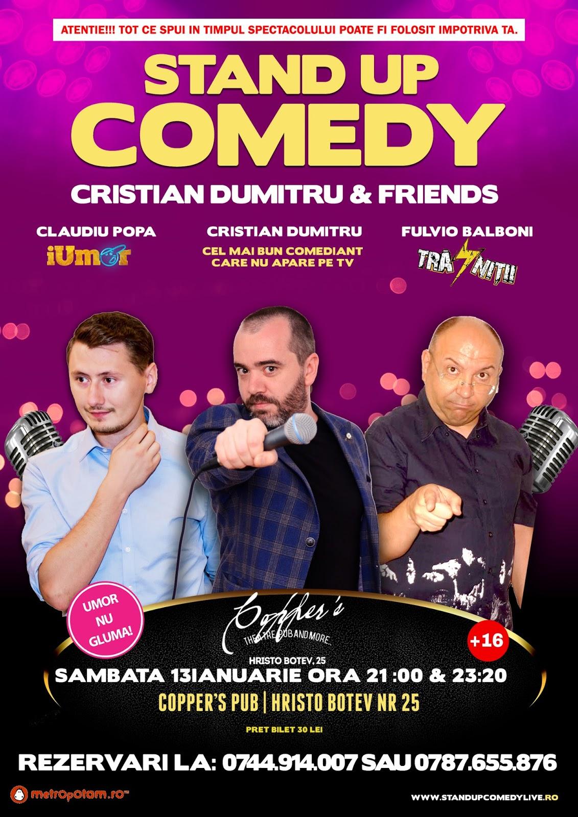 Stand-Up Comedy Bucuresti Sambata 13 Ianuarie 2018