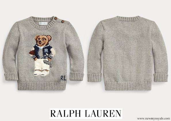 Prince Charles wore RALPH LAUREN Baby Boy Collegiate Bear Jumper