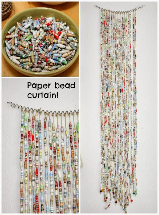 Repurpose Paper Bead Curtain The Refab Diaries