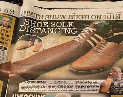 The Sun Social Distancing Shoes Article