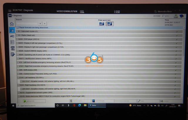 Xentry Passthru Review on Benz W212 1