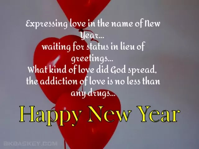 Happy New Year Romantic Love Shayari in Hindi Language Font