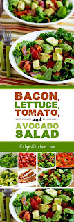Bacon, Lettuce, Tomato, and Avocado Salad found on KalynsKitchen.com