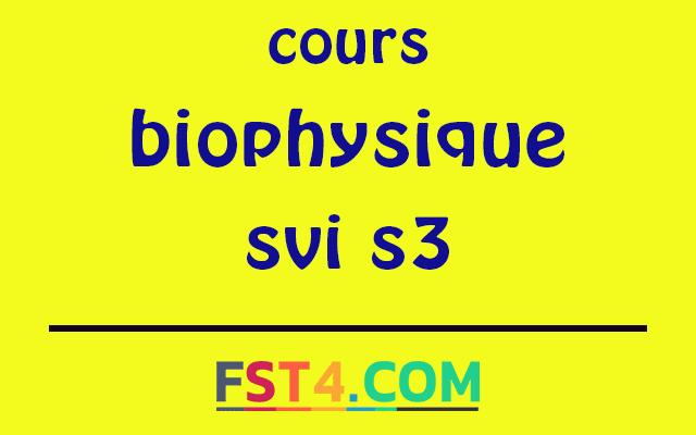 biophysique svi s3 pdf