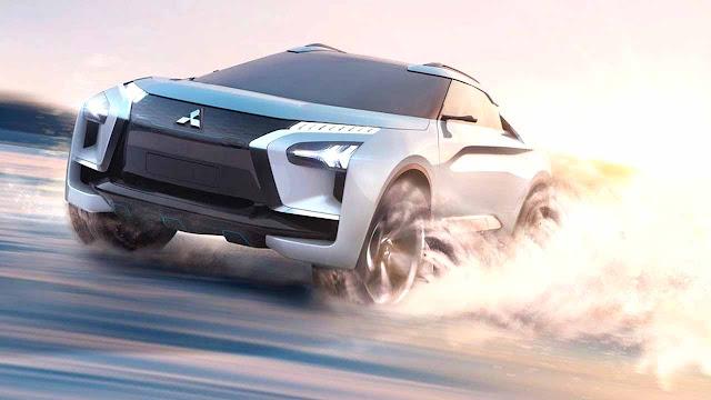 Mitsubishi e-Evolution Concept is a High-Performance SUV