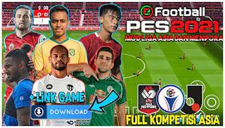 Download PES 2021 Jogress Special Piala Menpora And Asia Graphics Grass HD & Update Transfer