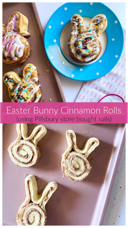 Easter Bunny Cinnamon Rolls (Pillsbury)
