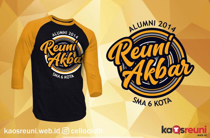 Kaos Reuni Akbar Alumni 2014 - Sablon Desain Kaos Reuni Online