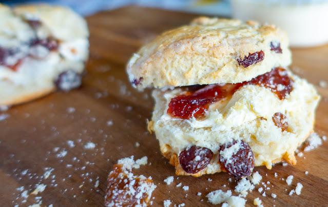 Scone, clotted cream and jam