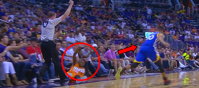Stephen Curry Pushes Brandon Knight to the Floor (VIDEO)