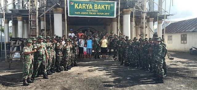 Kodim 1312/Talaud Laksanakan Karya Bhakti Hari Juang TNI-AD Tahun 2019