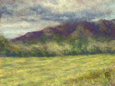 art painting landscape pastel rural farm ranch countryside