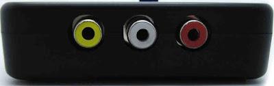 Porturile conectorului video de tip RCA.