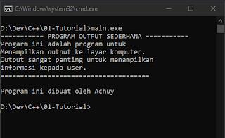 Output C++