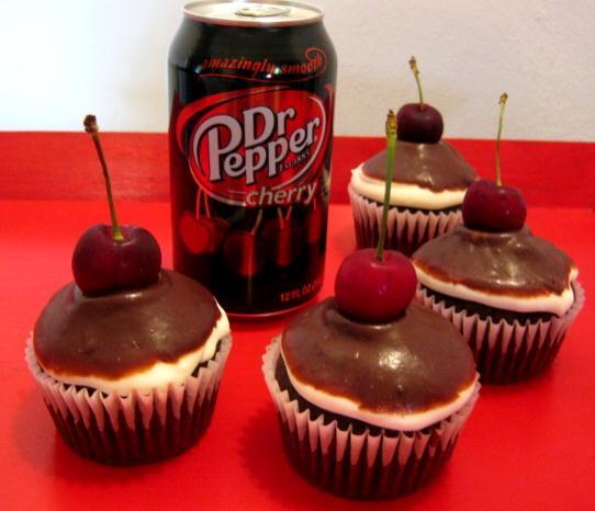 Cupcake Boom: Chocolate Cherry Dr Pepper Cupcakes